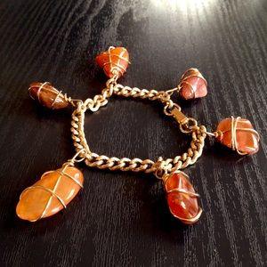Vintage Caged Agate Stone MCM Bracelet